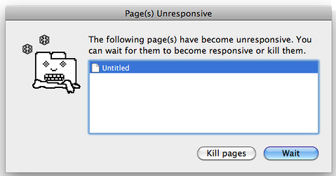 Unresponsive web page picture