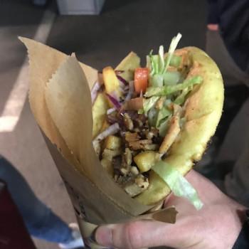 Pita gyros (greek street food) (photo)