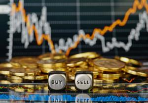 Financial markets buy or sell photo